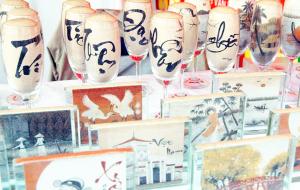 Tranh cát chữ thư pháp nghệ thuật sáng tạo
