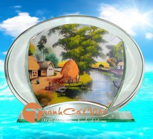 Mẫu tranh cát phong cảnh làng quê Việt Nam