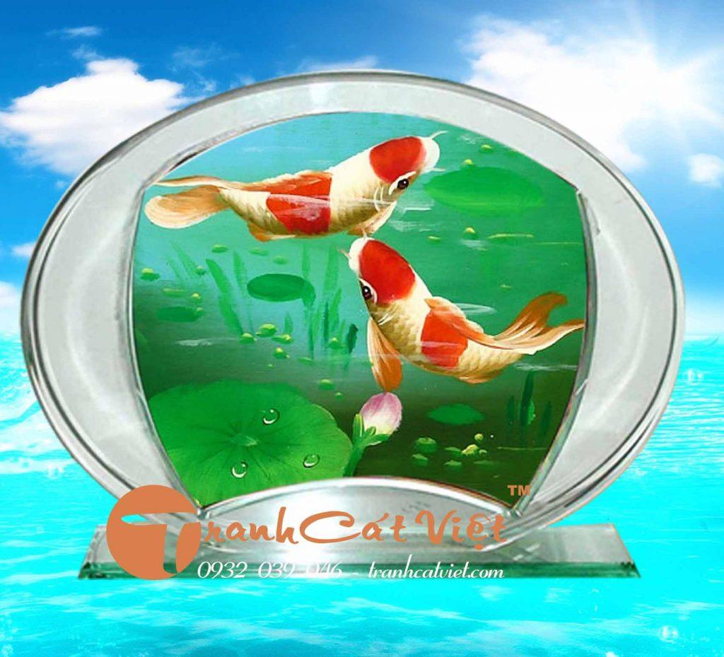 Tranh cát cá phong thủy đẹp, sáng tạo nghệ thuật