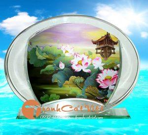 Tranh cát hoa sen đẹp và nghệ thuật