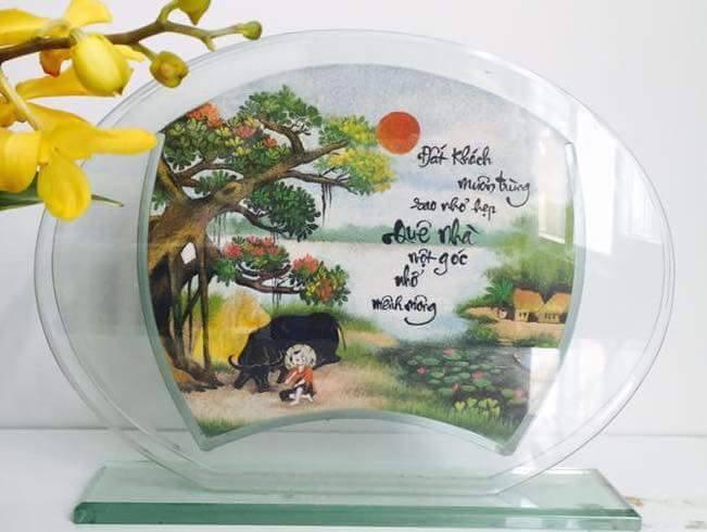 tranh-cat-phong-canh-lang-que-viet-nam - Tranh cát Việt