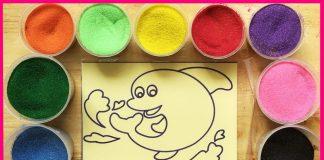 Cách tô tranh cát trẻ em
