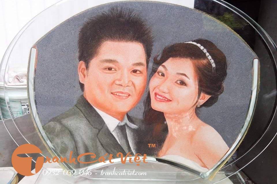 Tranh cát chân dung quà tặng đám cưới