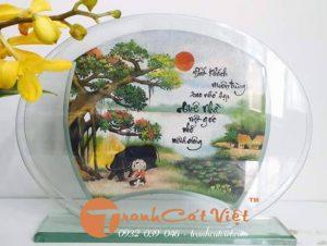 Tranh tranh cảnh làng quê Việt Nam bằng CÁT