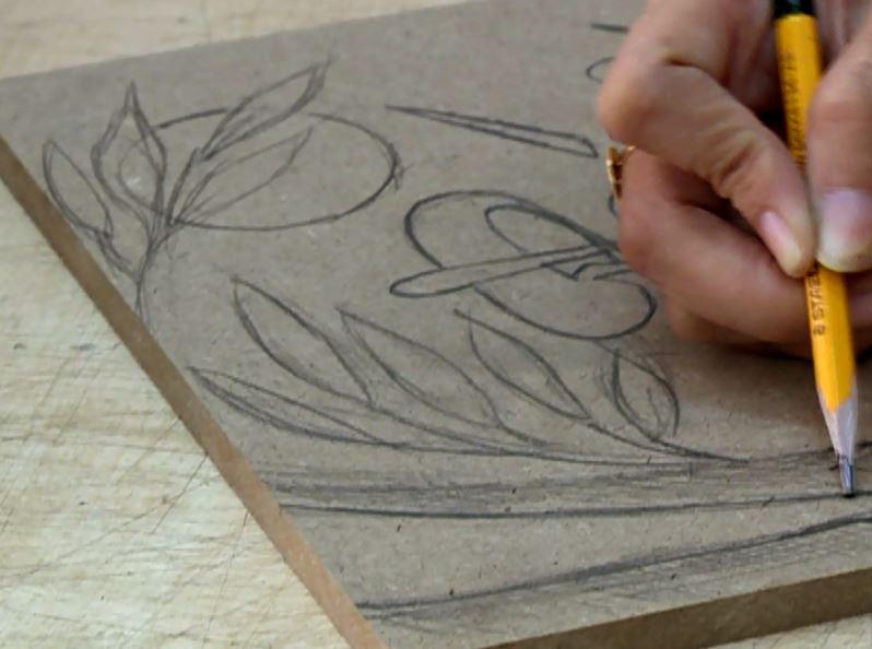 Cách làm tranh gạo - Phát thảo ý tưởng