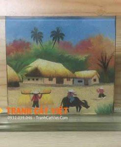 Tranh cát phong cảnh – chữ nhật mini 014