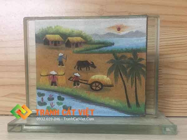 Tranh cát phong cảnh – chữ nhật mini 018