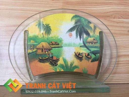 Tranh cát phong cảnh – Oval Mini 016 mặt trước