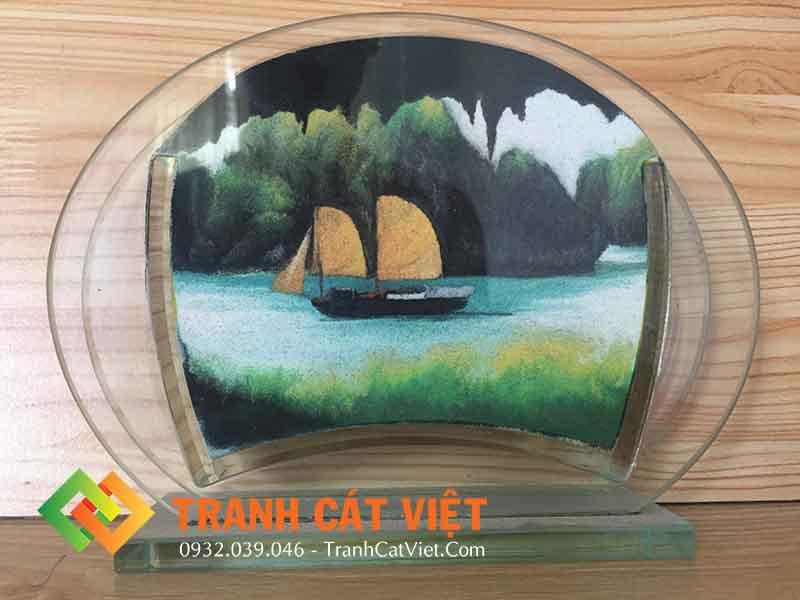 Tranh cát phong cảnh – Oval Mini 018 mặt trước