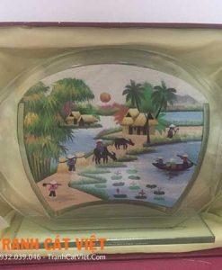 Tranh cát phong cảnh – Oval Trung 054