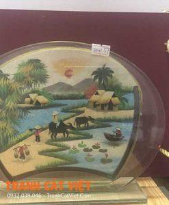 Tranh cát phong cảnh – Oval Trung 057