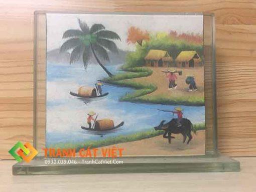 Tranh cát phong cảnh – chữ nhật Lớn 20