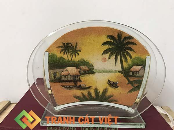 Tranh cát phong cảnh – Oval Mini 32