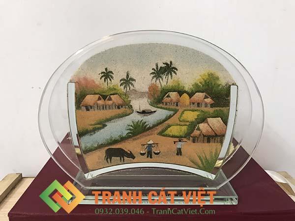 Tranh cát phong cảnh – Oval Mini 34