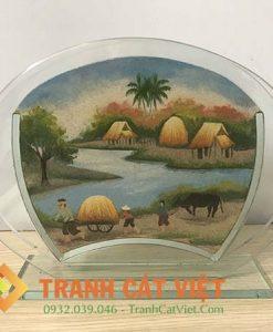 Tranh cát phong cảnh – Oval Trung 60