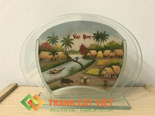 Tranh cát phong cảnh – Oval Trung 61