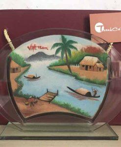 Tranh cát phong cảnh – Oval Trung 65