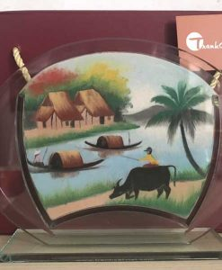 Tranh cát phong cảnh – Oval Trung 66