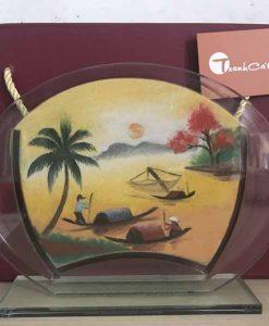 Tranh cát phong cảnh – Oval Trung 67